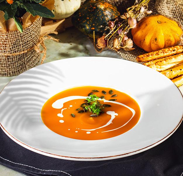 გოგრის კრემ-სუპი  Pumpkin cream-soup