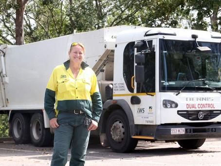 Female garbage truck driver training program in Ipswich gets anti-discrimination exemption