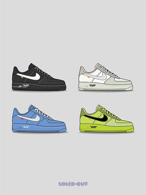 Off White Air Force 1 Poster