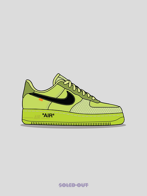 Air Force 1 Off White Volt Poster