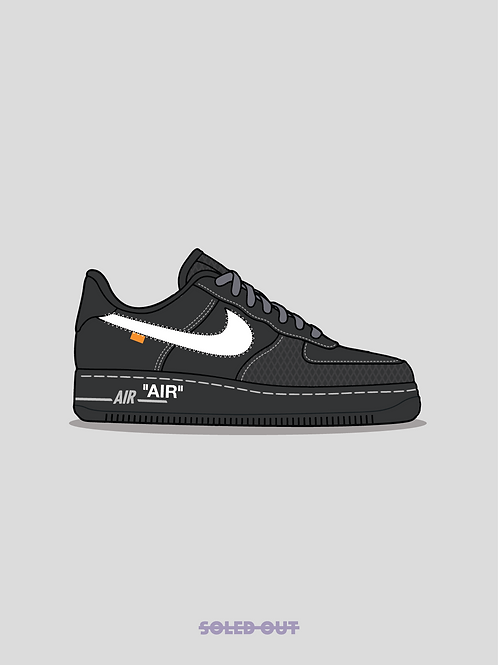 Air Force 1 Off White MoMa Poster