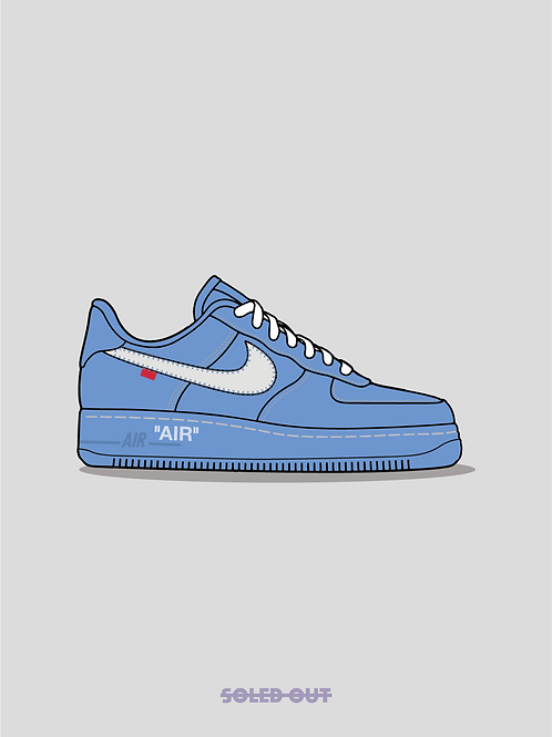 Air Force 1 Off White MCA Poster