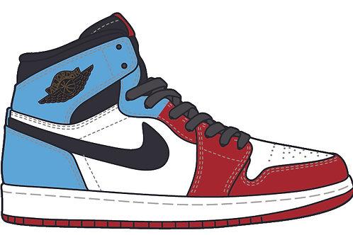 Air Jordan 1 Patent UNC to Chicago