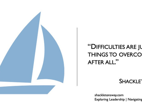 Shackleton on challenges...