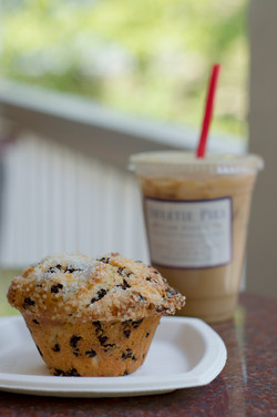 Sweetie Pies on Main   Chocolate Chip Muffin + Coffee