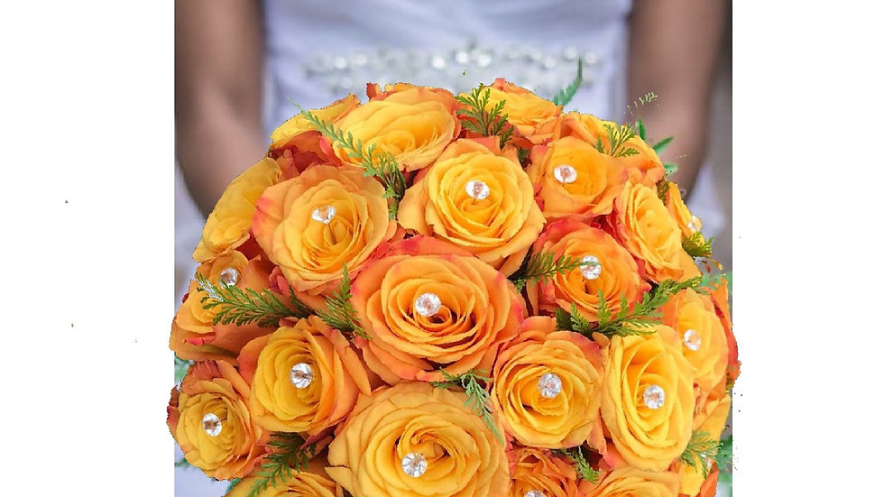 Exotic Bridal Bouquet- Yellow