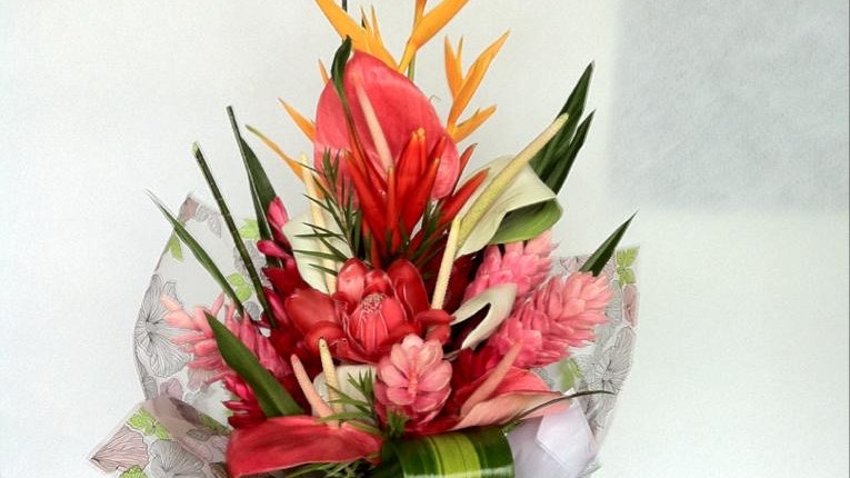 Tropical Hand-tied Presentation Bouquet