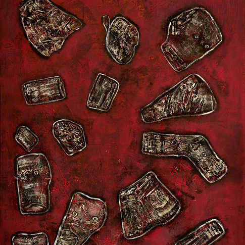 Composition in red, 2000/2001