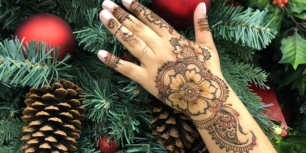 Wine & Henna at Squibb Holiday Party
