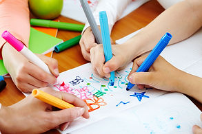 Fine motor skills - children coloring