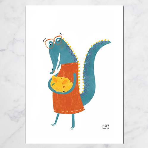MISS CROCODILIA & PABLO PRINT