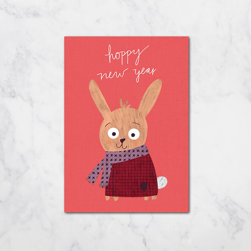 HOPPY NEW YEAR CARD