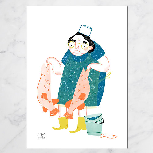 THE FISH MONGER'S WIFE PRINT