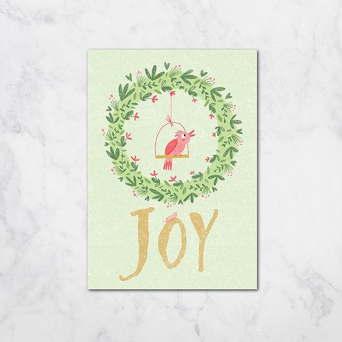 JOY BIRD XMAS CARD