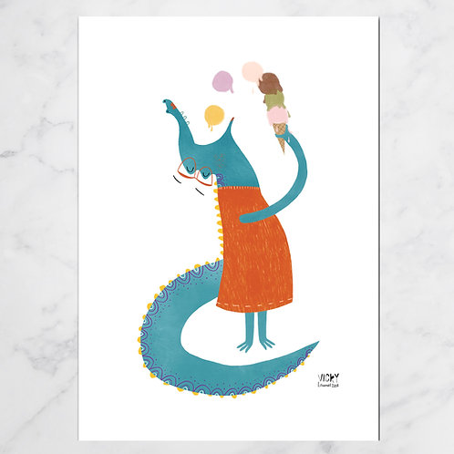MISS CROCODILIA PRINT SET OF 3