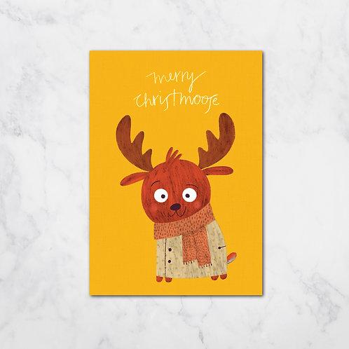 MERRY CHRISTMOOSE XMAS CARD