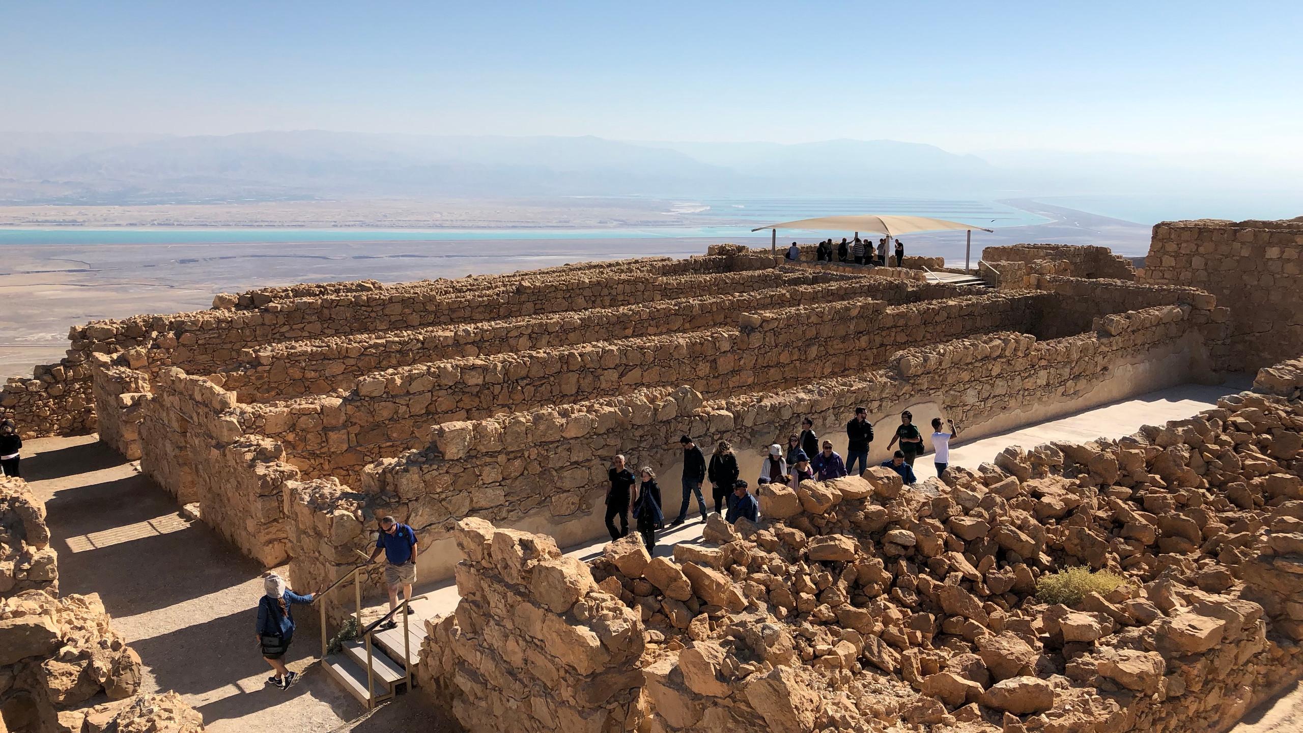 Palace walls in Masada