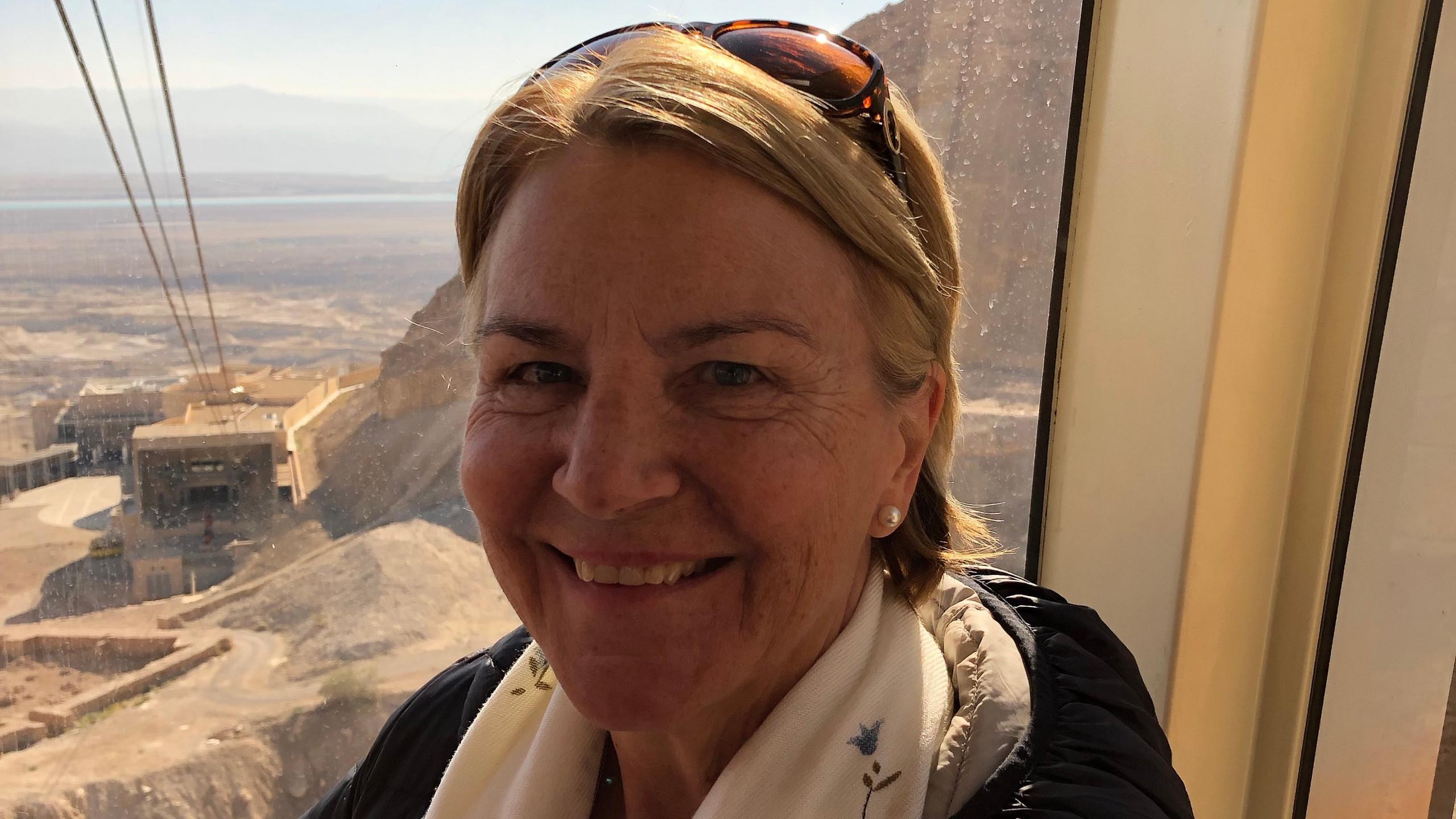 Bonnie at top of Masada