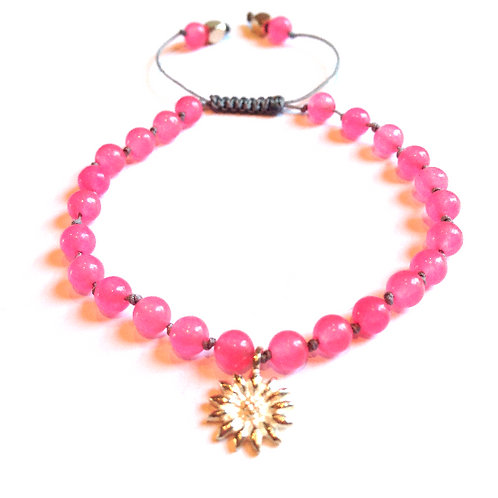 Hot Pink Jade - Happy go Lucky