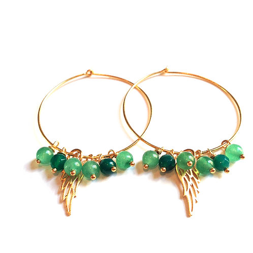 Green Feather Loops