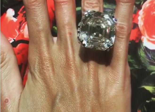 Nothing says 'I love you' like a 70-carat diamond!