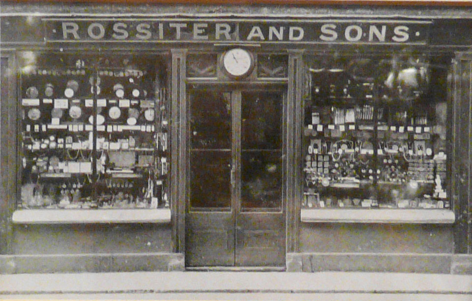 Rossiters Shop Front 1850-1937