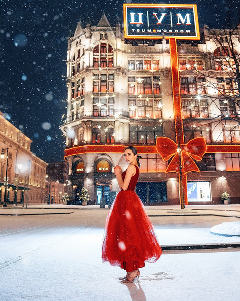 Фотосессия в Предновогодней Москве