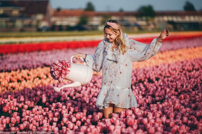 Фотосессия на тюльпановых полях