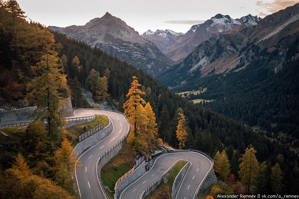 Дорога Maloja Pass