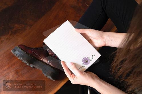 Arquivo Digital Pautado Flor - Bloco