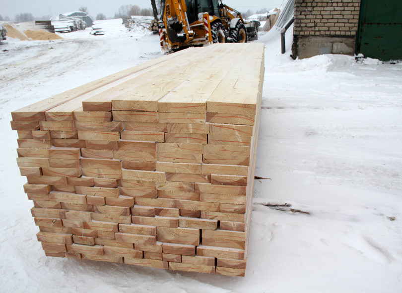 Fresh sawn whitewood.