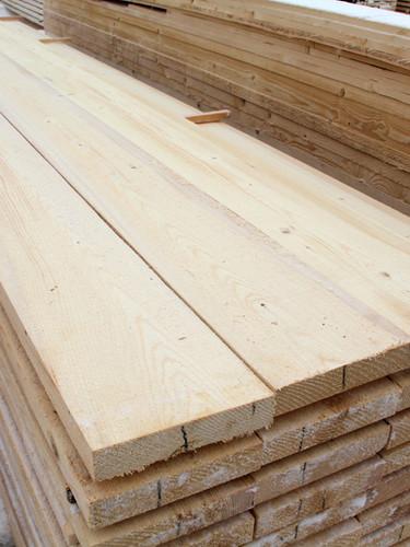 Fresh sawn whitewood surface