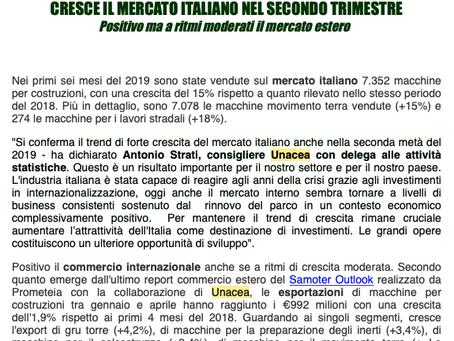 Cresce il mercato italiano nel secondo trimestre.