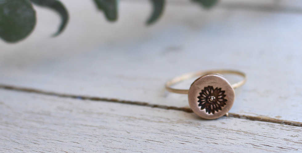 Sunflower Coin Ring