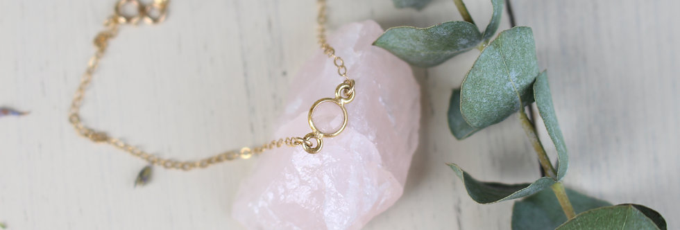 Rose Quartz Bracelet or Anklet