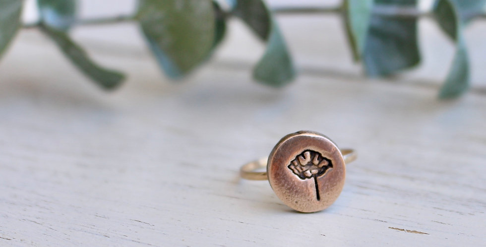 Poppy Coin Ring