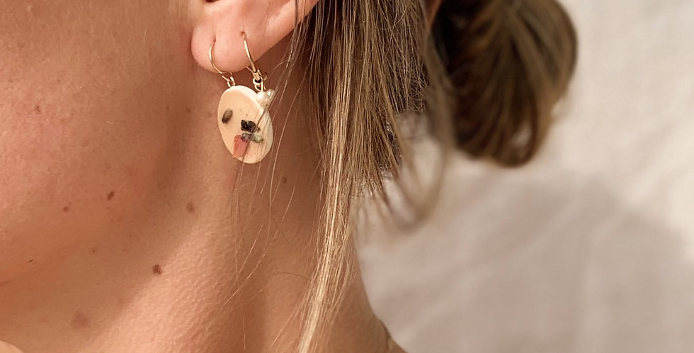 Rose and Lavender Earrings