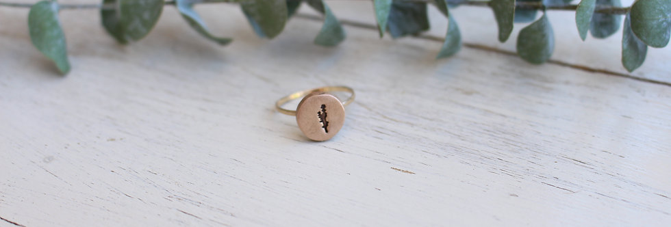 Lavender Coin Ring