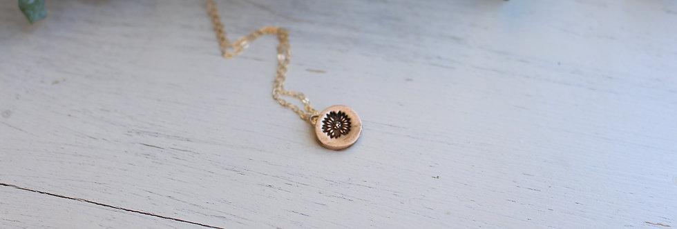Sunflower Coin Pendant