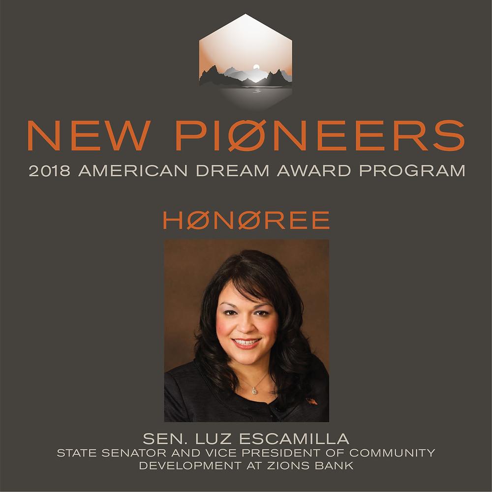 Luz Escamilla New Pioneers American Dream Award Honoree