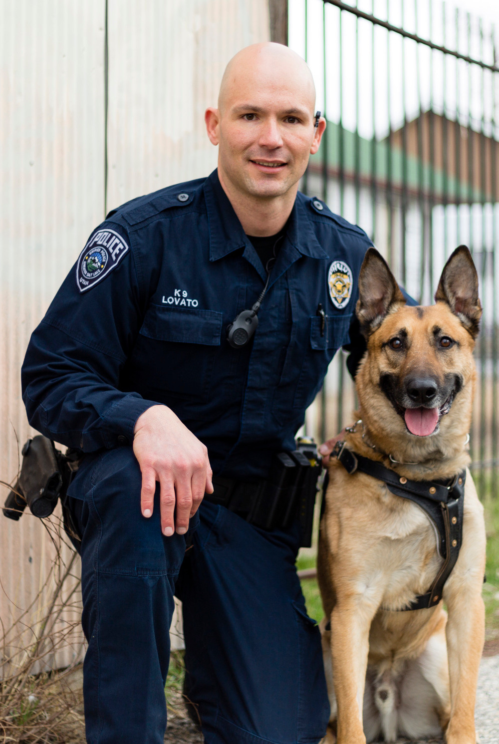K9 Officer Aldo with Sgt. Luis Lovato