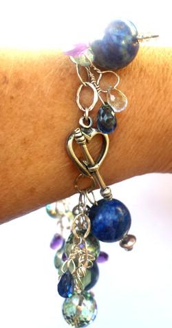 lapis bracelet closeup