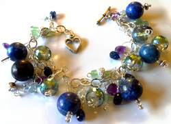lapis multi gemstone bracelet