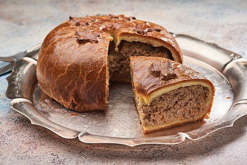 Пиріг з карпатським ягнятком запеченим з овочами та розмарином