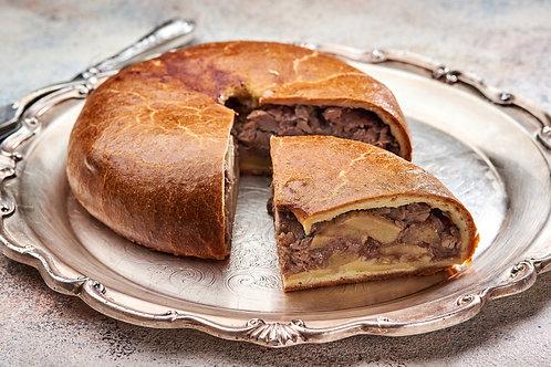 Пиріг з качкою печеною з яблуками в Мадері