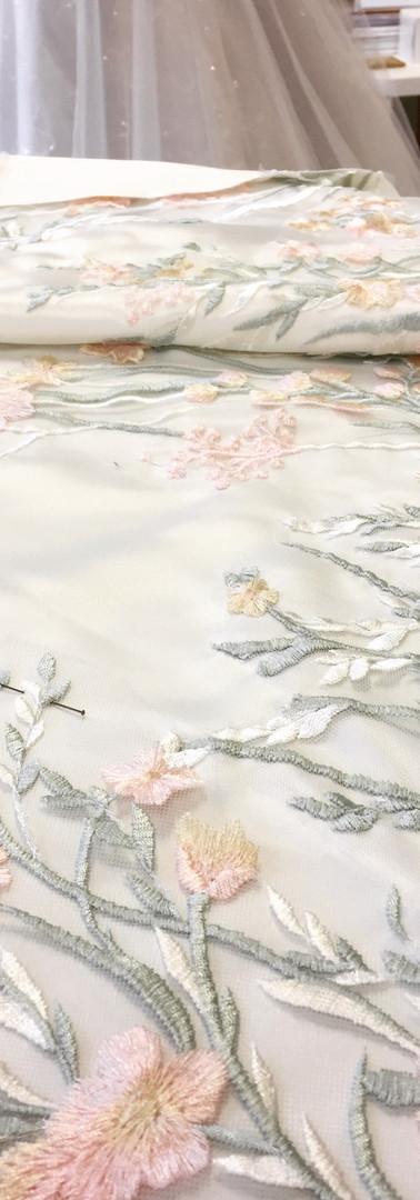 hand sewn lace