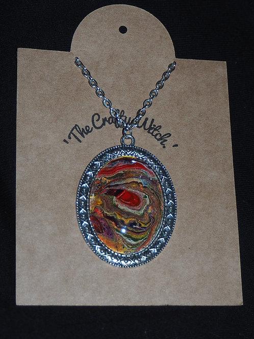Large multi coloured pendant.
