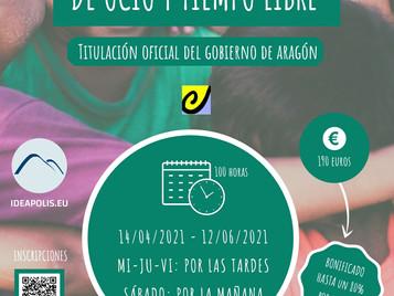 EL 14 DE ABRIL ARRANCA EL CURSO DE MONITOR/RA DE OCIO Y TIEMPO LIBRE