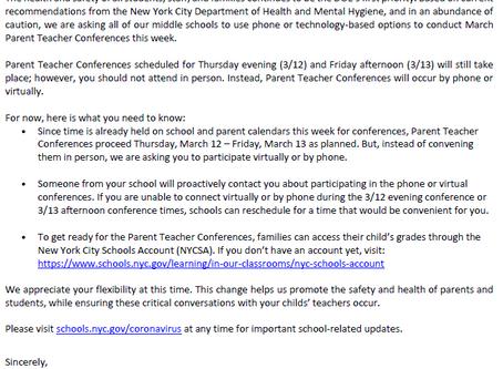 Parent/Student Conferences March 12/13