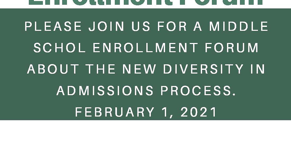 Middle School Diversity in Admissions